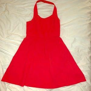 Pink halter BCBG dress